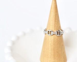 Chain motif ring【silver】