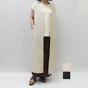 OUTERSUNSET(アウターサンセット) linen long gilet 2020春物新作