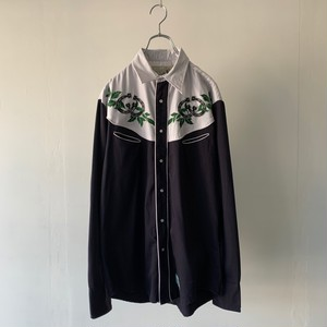 embroidered design western shirt