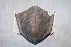 綿しじらとヘンプのマスク