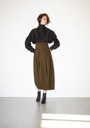 【予約】High waist tuck skirt