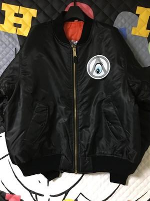 AnarchyRabbit 刺繍MA-1 ブラック