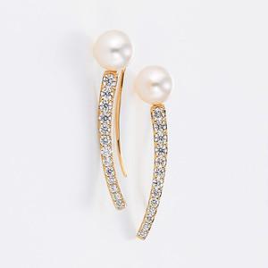 Innocent K18YG Pearl Diamond Pierce (パール ダイヤモンド ピアス)