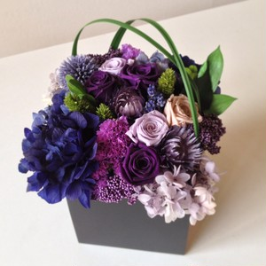 Purple×Blue Preserved Flower Arrangement (Box L)