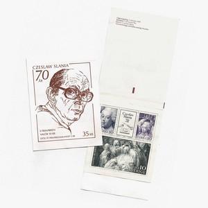 切手帳(未使用)「スラニア生誕70年 - 4枚構成(1991年発行)」