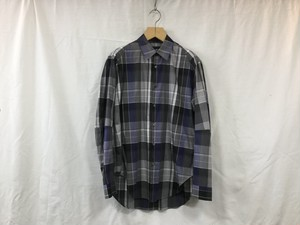 "semoh""stripe switching shirt purple"