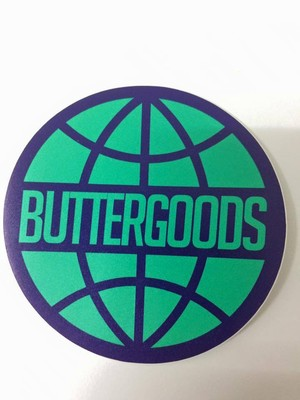 BUTTER GOODS WORLDWIDE LOGO STICKER TURQUOISE