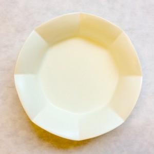 八角花深皿(キナリ白)