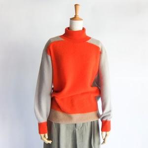 HAVERSACK - カシミアシャギータートルネックセーター - Orange / Black