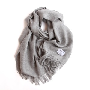 THE INOUE BROTHERS/Large Woven Stole/Light Grey