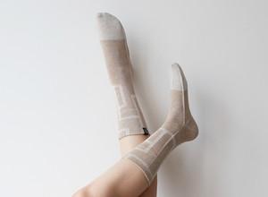 % PERCENT 靴下(春夏:ブラウン・ベージュ)抗菌・防臭・吸水・通気性(男女兼用)
