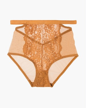 LULU HIGH WAIST BRIEF Caramel / Lonely