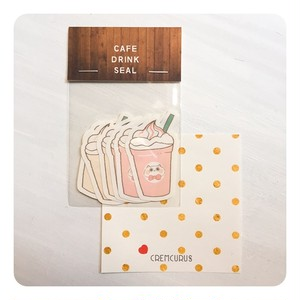 CAFE DRINK SEAL (PINK)