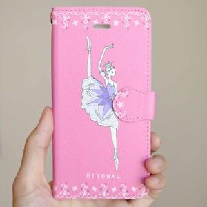 (iPhone)リラの精 手帳型スマホケース