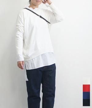 レディース ニット 長袖 無地 秋冬 prit プリット 2WAYワイドプルオーバーニット (品番909101)