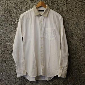 衿ウールシャツ【modem design】ホワイト