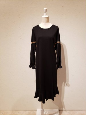 袖異素材カットワンピース959980-141