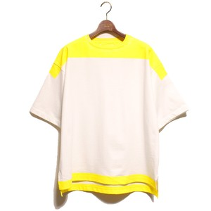 Product Print Wide Tee-yellow <LSD-AI1T5>