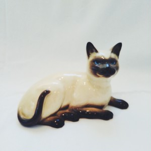 Vintage Siamese Cat Object