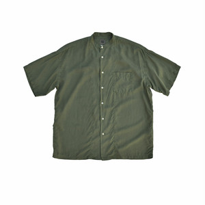 BEST PACK Band Collar S/S Shirt Khaki BP19S-SH03