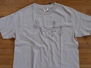 森のおおかみ君Tシャツ メンズSサイズ
