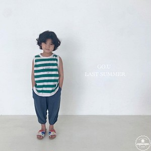 «sold out»«ジュニア» go.u border sleeveless 2colors ボーダーノースリーブ ジュニアサイズ