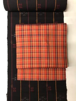 リバーシブル名古屋帯(紬×保多織)
