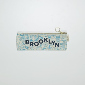 MAP TOTE / Pencil Pouch Brooklyn  Natural