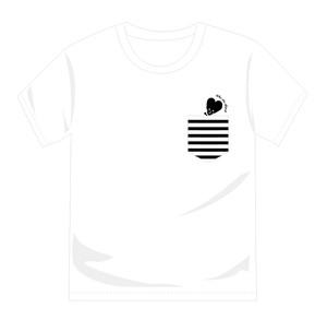 ビッチロゴポケットTシャツ(White)