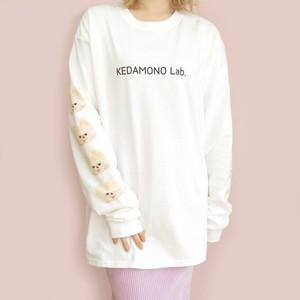 〈KEDAMONO Lab. 〉ルーズTシャツ ホワイト