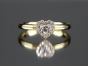 K18イエローゴールド ダイアモンドリング