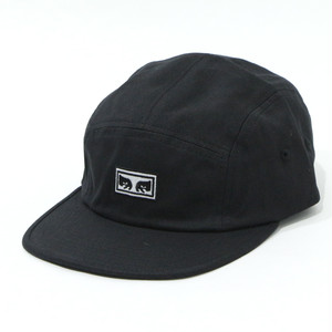 EYES 5 PANEL HAT (BLACK)