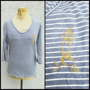 VWヴィヴィアンウエストウッドマンVivienne Westwood MAN/天使/オーブ/刺繍/ボーダー/7分袖/Tシャツ/48/