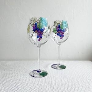 【葡萄】大振りのブドウワイングラス1個/父の日ギフト・母の日ギフト・誕生日プレゼント・還暦祝い・結婚祝い
