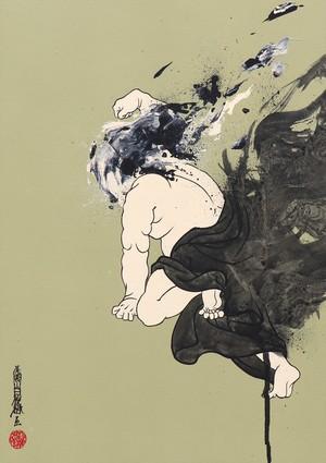 [絵画|Artworks] 擬音態画伝 しんかん|Shinkan