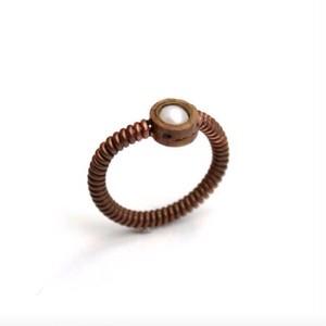 オーボエリードとピアノ弦とパールのリング  Oboe × Piano with pearl ring