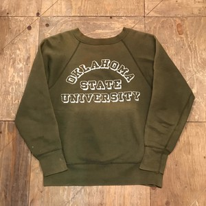 60s colleges vintage sweat olive 三段プリント UT-289