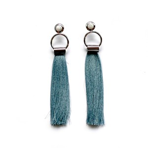 SOL Earrings SILVER/BLUE