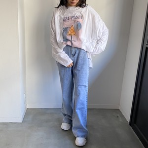 attention smile long t-shirt[2103-45]
