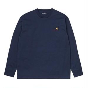 【Carhartt WIP】 L/S AMERICAN SCRIPT T-SHIRT - Space カーハート 長袖 Tシャツ