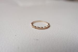 【受注生産】K10YG  Marquise  ring(マーキスリング)