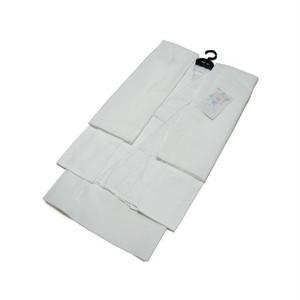 売れてます 日本製  S,M,L,LL 絽 夏用 洗える 二部式長襦袢(白)半襦袢・裾除け・半衿付・衣紋ぬき付 [a-041]