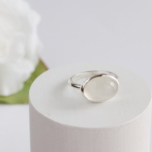 White Moonstone Ring ✧silver925 ✧