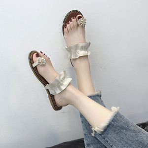 【sandal】2018 new  summer fashion  Korean  flat  seaside beach sandal