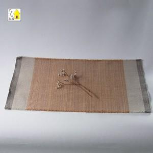 手織り ブラウンのティーマット