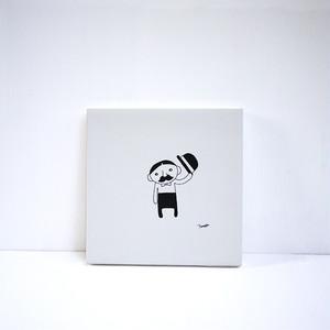 【風森美絵】18cm角原画(ひげのおじさん)