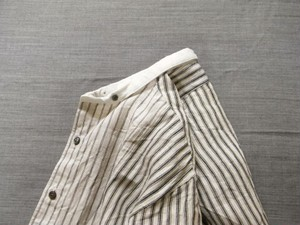 irish-worker cleric linen shirt / type-a