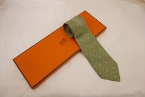 HERMES Tie -Green-