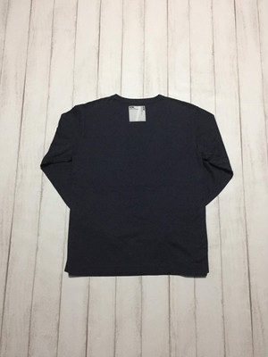 side binder long sleeve shirt / navy