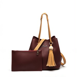 Bucket Bag PU Leather Handbag Tote Shoulder Bag ショルダーバッグ トートバッグ レザー ハンドバッグ (HF99-8637903)